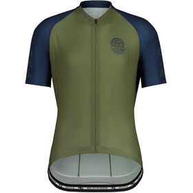 Maloja StachelbeereM. 1/2 Kurzarm Fahrradtrikot Herren oliv/blau